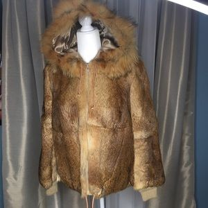 Real Fur Eskimo Hooded Jacket